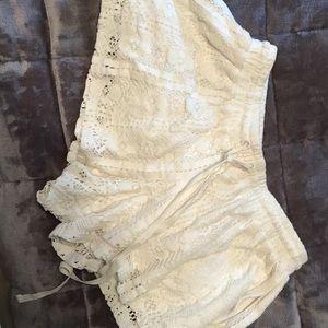 white flowy shorts